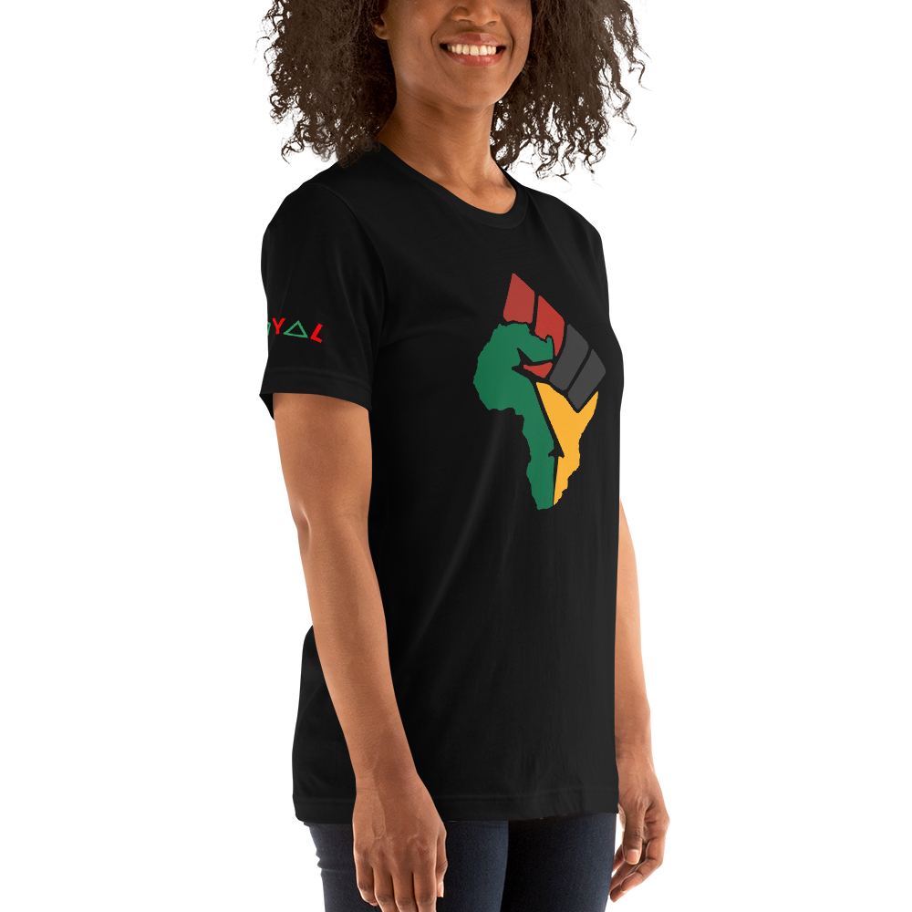 ROYAL. WEAR | Afro Fist Afrique Equality Fist unisex tee