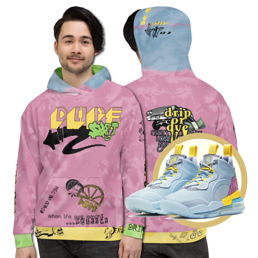 CRXWN | Drip or Dye Aerospace 720 Lyrical Lemon Dope Acid Wash UNISEX Hoodie 1