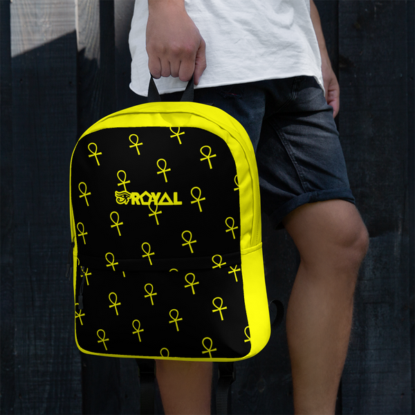 ROYAL. | Urban Resort Ra Pack Lightweight Backpack with hidden Pocket All Ankh Yellow Season Black