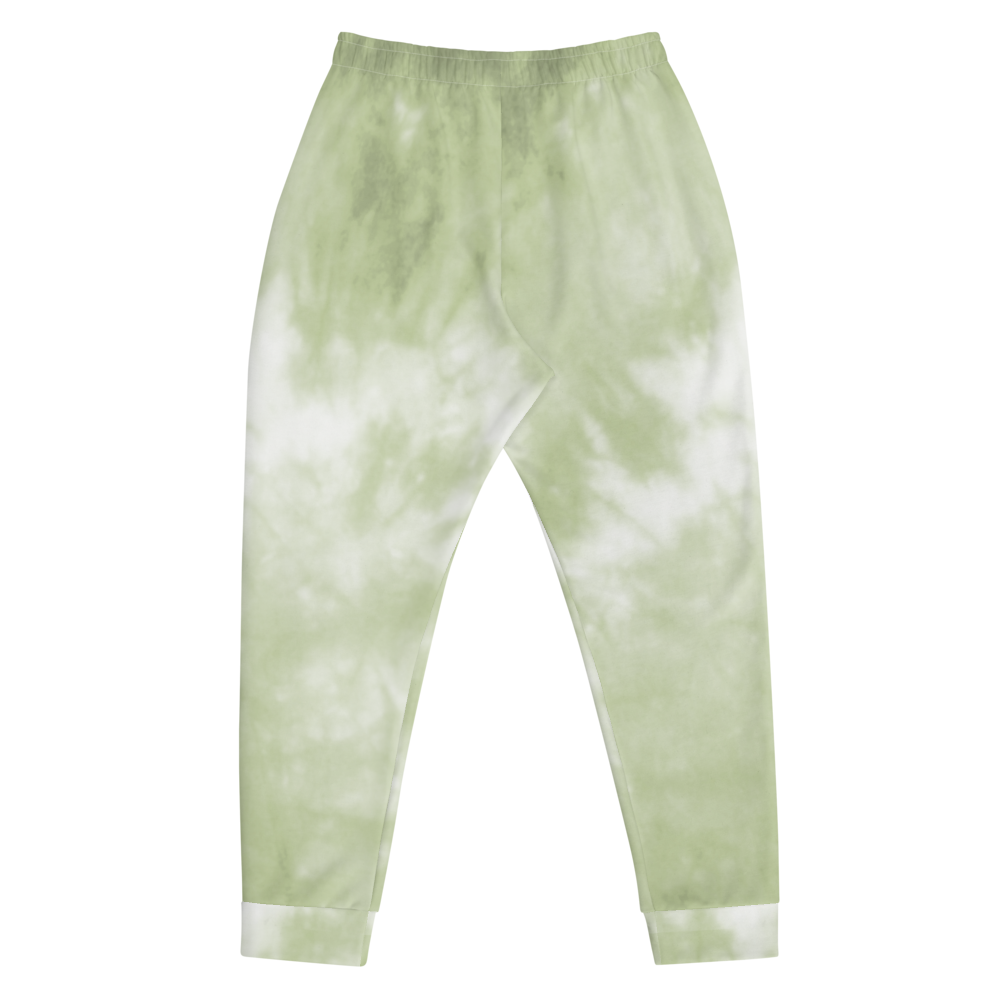 CRXWN | Drip or Dye Moss Green Ice Dye UNISEX Joggers Hearts Around the World Live Love Laugh