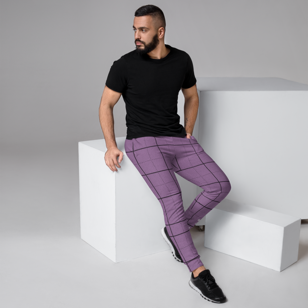 CRXWN | Drip or Dye | Plaid Season 1 Unisex Jogger Sweatpant Violet Purple