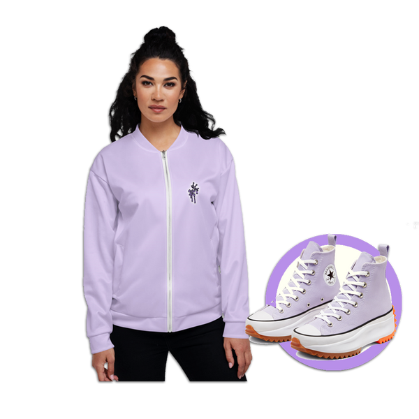 CRXWN | Drip or Dye Sunblocked Run Star Hike Pastel Purple Solid UNISEX Bomber Jacket