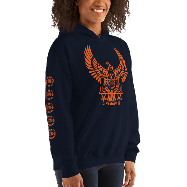 ROYAL. | Urban Resort | RA PARTY ROYAL GRAND RISE Unisex Heavy Blend Hoodie ORANGE (3 VARIETIES)