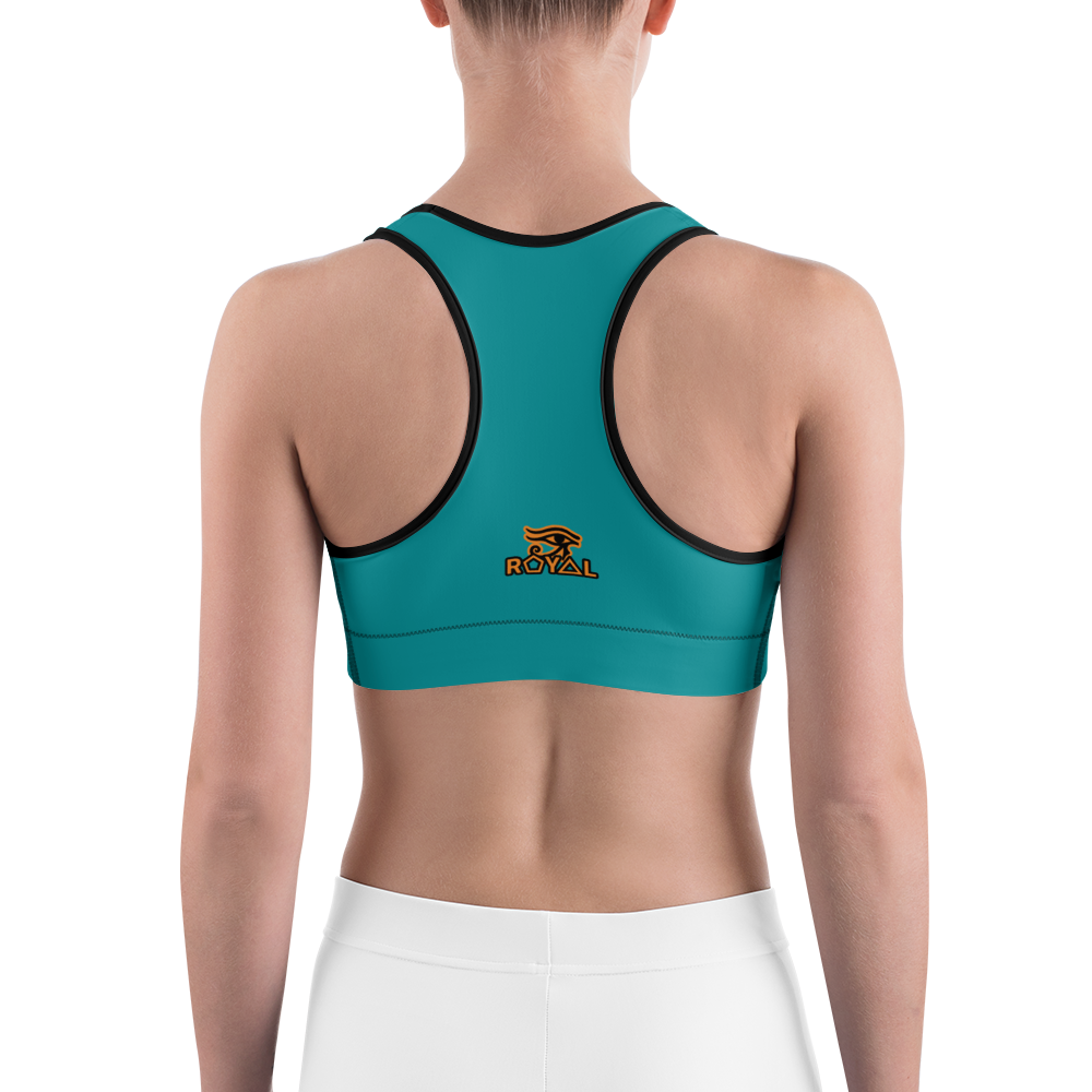 ROYAL. |  Urban Resort | FUTURE TRIBE Eye of Ra Fashion Sports Bra COLOR STORY 1 TOURQOUISE