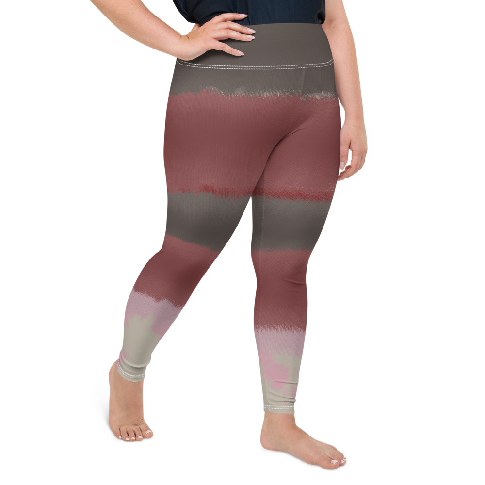 CRXWN | Drip Or Dye Max 90 dqm bacon Acid Wash Ice Dye Plus Size Yoga Leggings