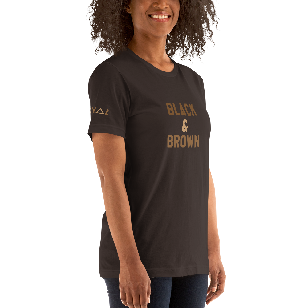 ROYAL. | STATEMENT | unisex gRAf it tee BLACK & BROWN Brown & Nu Afrique Varieties