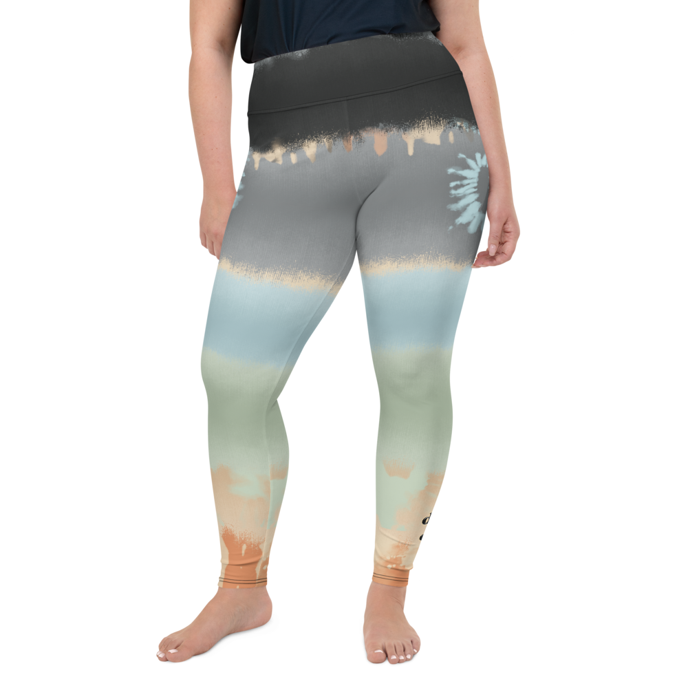 CRXWN | Drip Or Dye SB High Spectrum Easter Ombre Tye Dye Plus Size Yoga Leggings Venice Beach Vibez