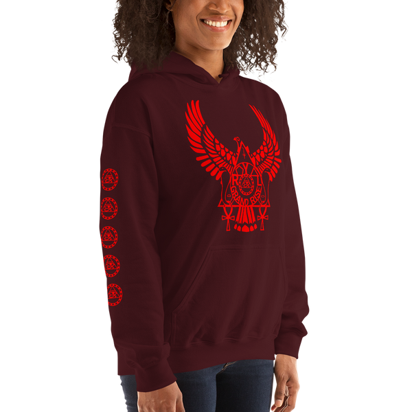 ROYAL. | Urban Resort | RA PARTY ROYAL GRAND RISE Unisex Heavy Blend Hoodie FIRE CORAL (4 VARIETIES)