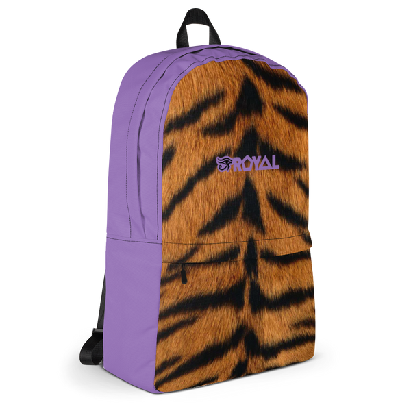 ROYAL. | Urban Resort Ra Pack Lightweight Backpack with hidden Pocket Magik Purple Tiger