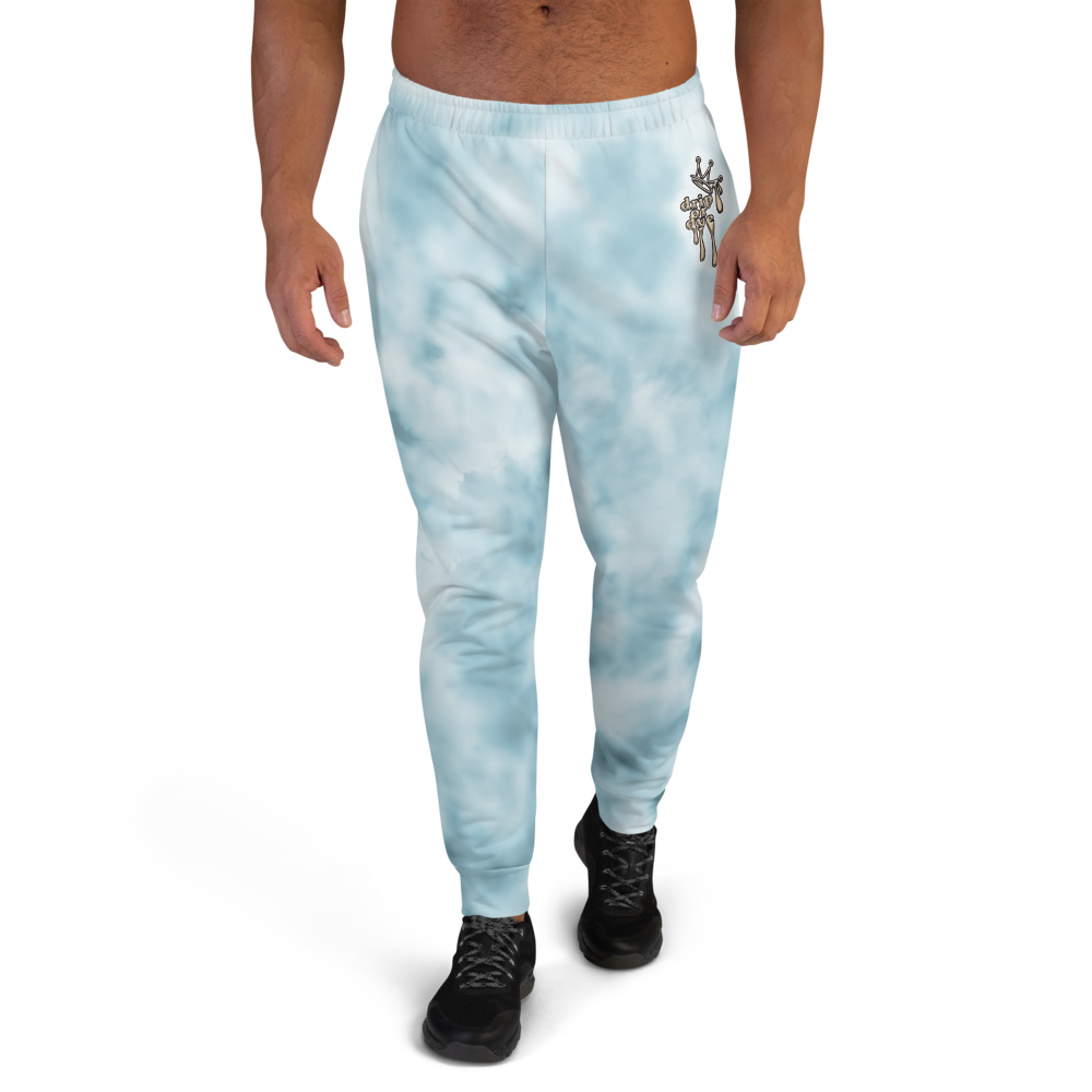 CRXWN | Drip or Dye Ice Blue Sky Linen Ice Dye UNISEX Jogger Hearts Around the World Live Love Laugh