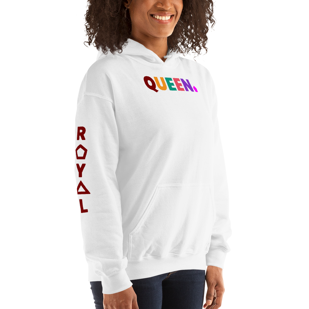 .R.O.Y.A.L. QUEEN BOiFRIEND HOODIE STATEMENT WH