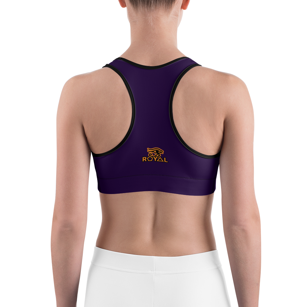 ROYAL. |  Urban Resort | FUTURE TRIBE Eye of Ra Fashion Sports Bra COLOR STORY 1 ROYAL PURPLE
