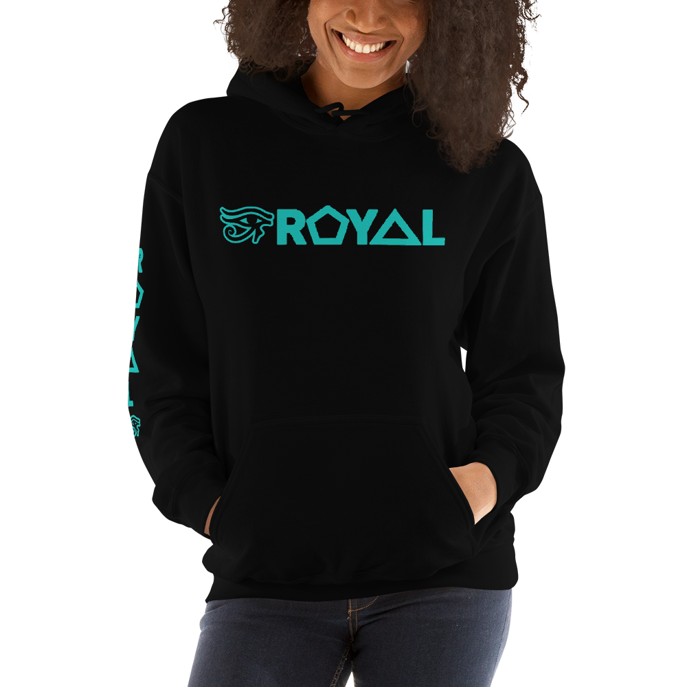ROYAL. | Urban Resort | RA PARTY ROYAL EMBLEM Unisex Heavy Blend Hoodie MINT EMBLEM (3 VARIETIES)
