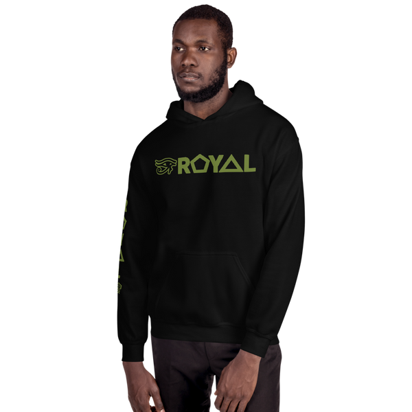 ROYAL. | Urban Resort | RA PARTY ROYAL EMBLEM Unisex Heavy Blend Hoodie OLIVES N MONEY TREES