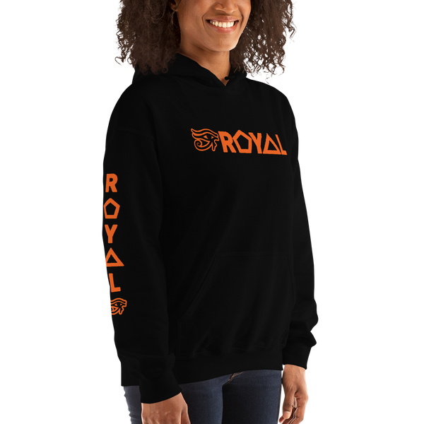 ROYAL. | Urban Resort | RA PARTY ROYAL EMBLEM Unisex Heavy Blend Hoodie ORANGE (4 VARIETIES)