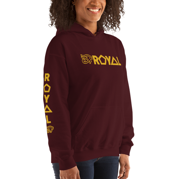 ROYAL. | Urban Resort | RA PARTY ROYAL EMBLEM Unisex Heavy Blend Hoodie HONEYCOMB GOLD (5 VARIETIES)