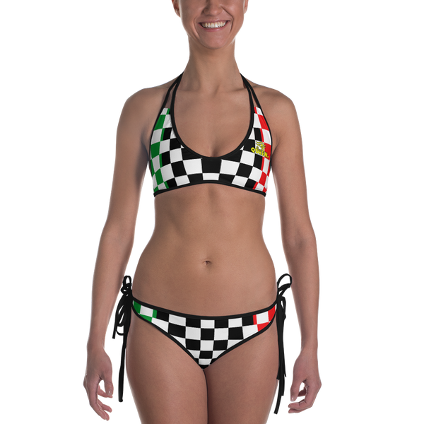 ROYAL. |  Urban Resort | FUTURE TRIBE Eye of Ra Reversible Bikini CHECKERBOARD QUEEN