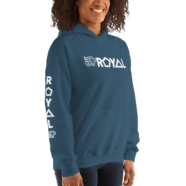 ROYAL. | Urban Resort | RA PARTY ROYAL EMBLEM Unisex Heavy Blend Hoodie WHITE (5 VARIETIES)