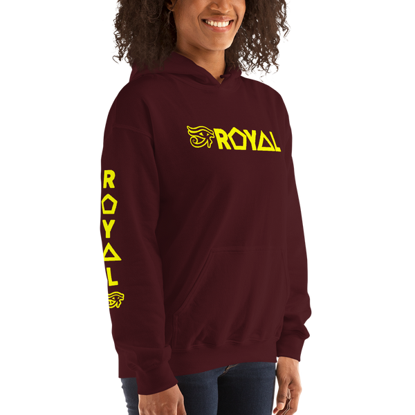 ROYAL. | Urban Resort | RA PARTY ROYAL EMBLEM Unisex Heavy Blend Hoodie YELLOW (4 VARIETIES)