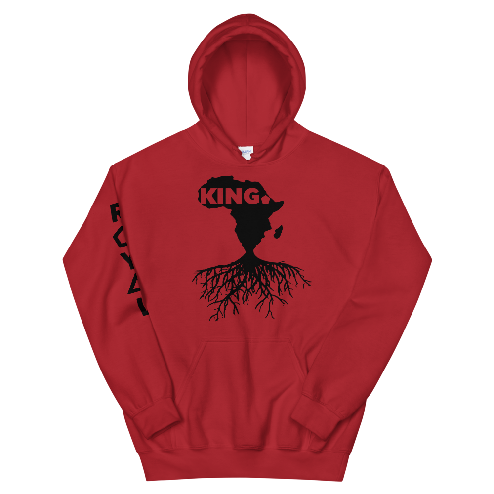 ROYAL. | Nu Afrique CRXWN and ROOTS | King Hoodie Black (3 VARIETIES)