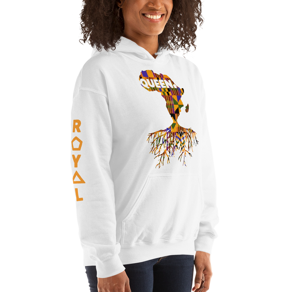 ROYAL. | Nu Afrique CRXWN and ROOTS | Queen Hoodie Kente (4 VARIETIES)