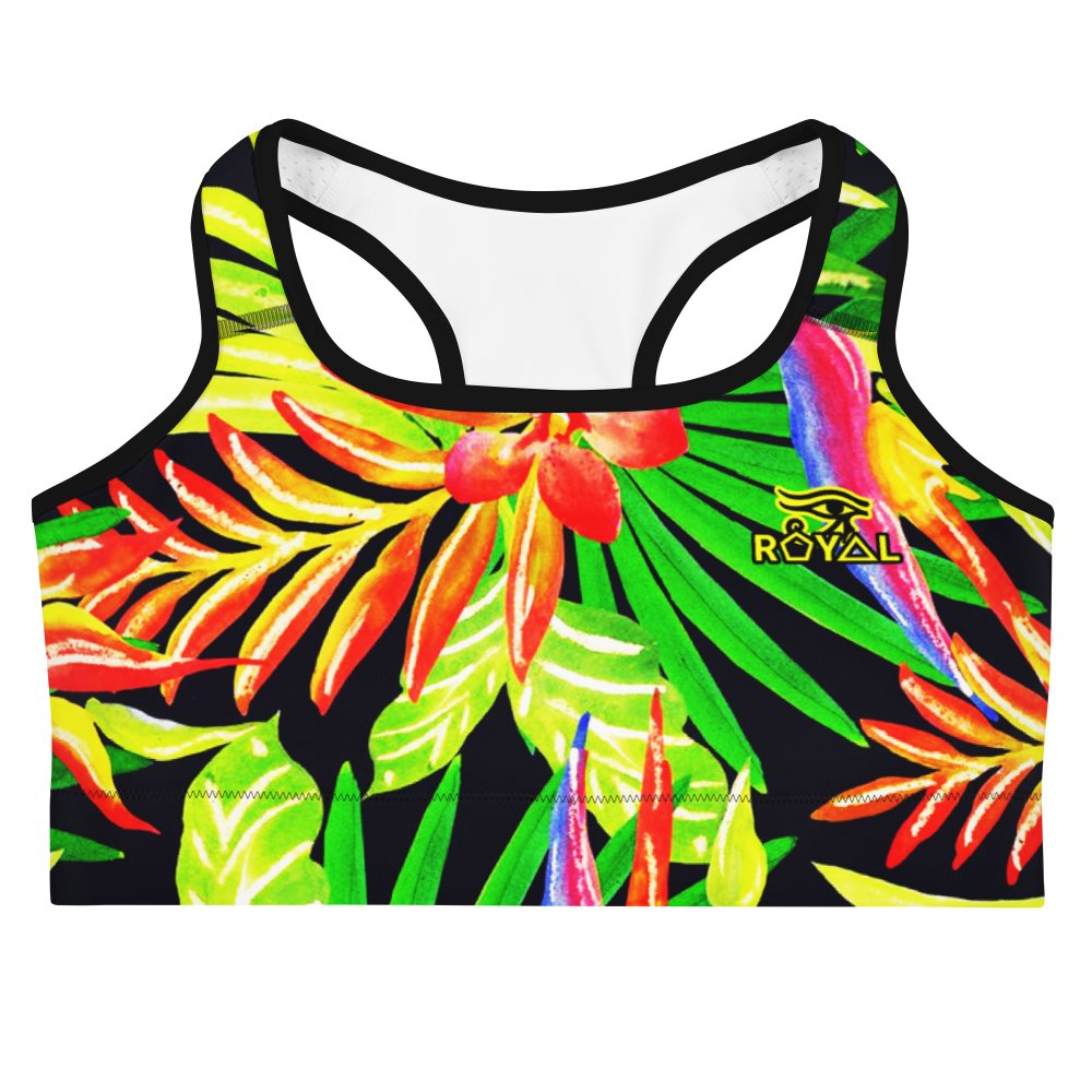 ROYAL. |  Urban Resort | CONSCIOUS CULTURE Eye of Ra Fashion Sports Bra TROPICALE DELIGHT 1