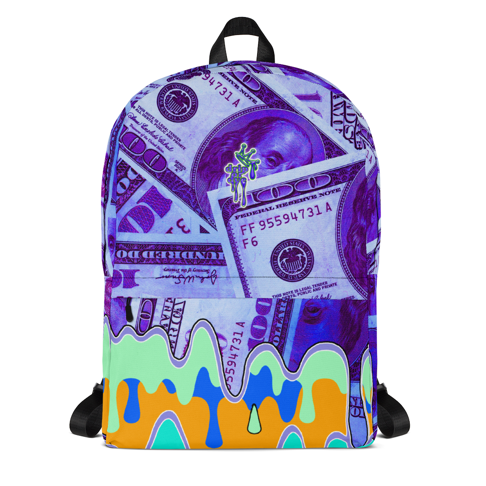 DRIP OR DYE | Money Drip Cash Bag of Money Manifest Backpack Purple Money BlueFace