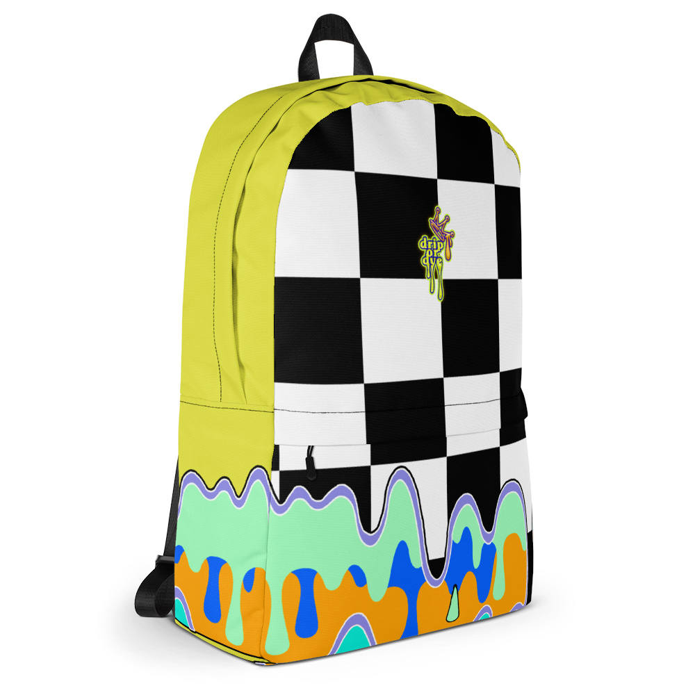 DRIP OR DYE | Checker Drip Backpack Dandelion Yellow