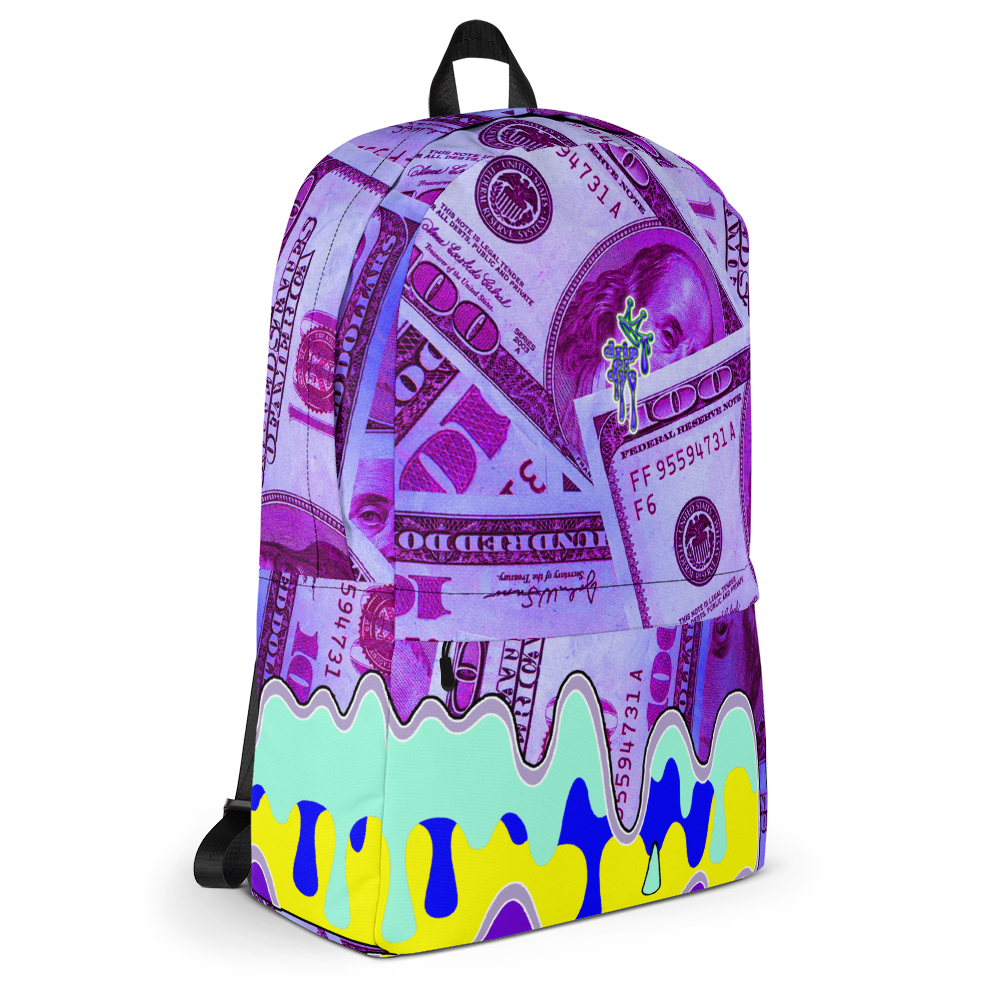 DRIP OR DYE | Money Drip Cash Bag of Money Manifest Backpack Pink Money BlueFace