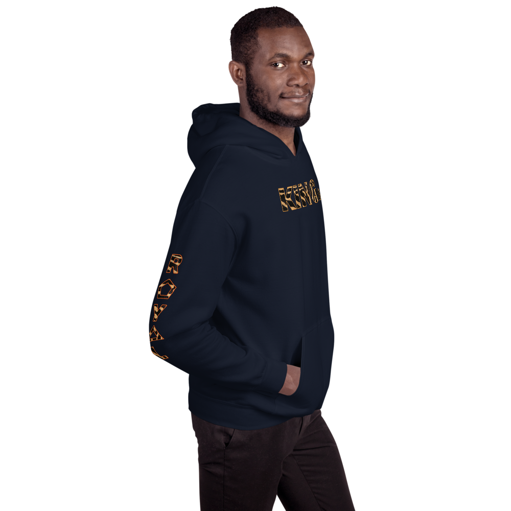 ROYAL. WEAR | HUMAN-IMAL KING STATEMENT HOODIE BROWN ZEBRA BASICS VARIETIES