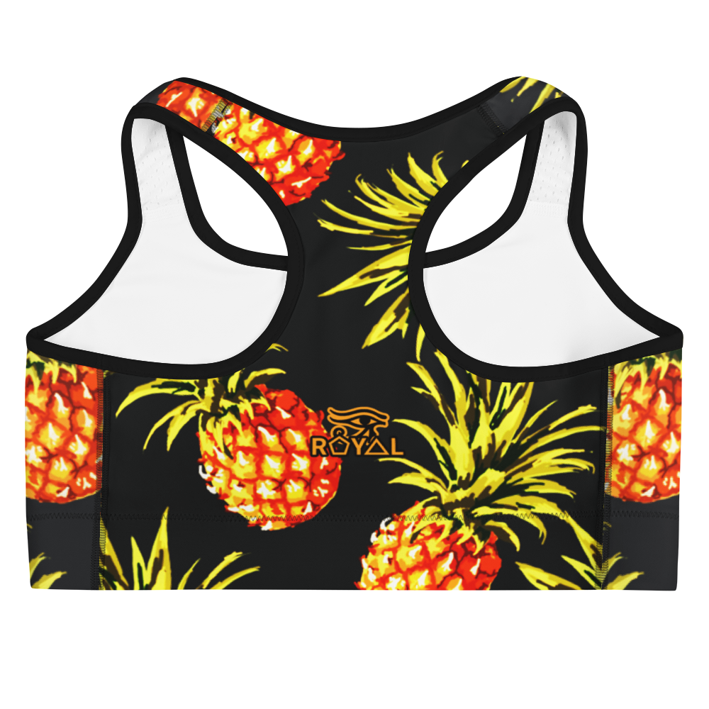 ROYAL. |  Urban Resort | CONSCIOUS CULTURE Eye of Ra Fashion Sports Bra PINEAPPLE DREAMS 1