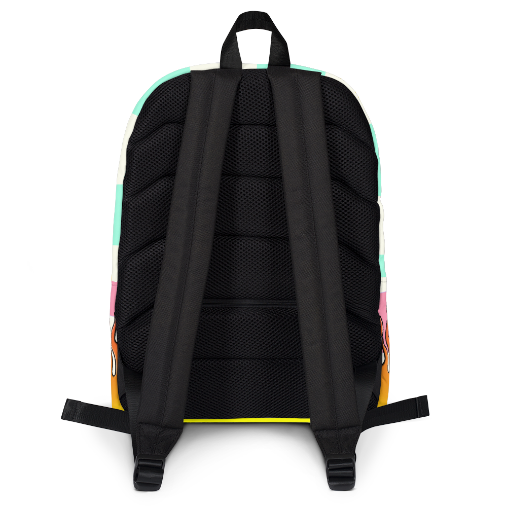 DRIP OR DYE | Checker Flames Color Block Backpack Pastel Purple Violet Seafoam Blue Millenial Pink