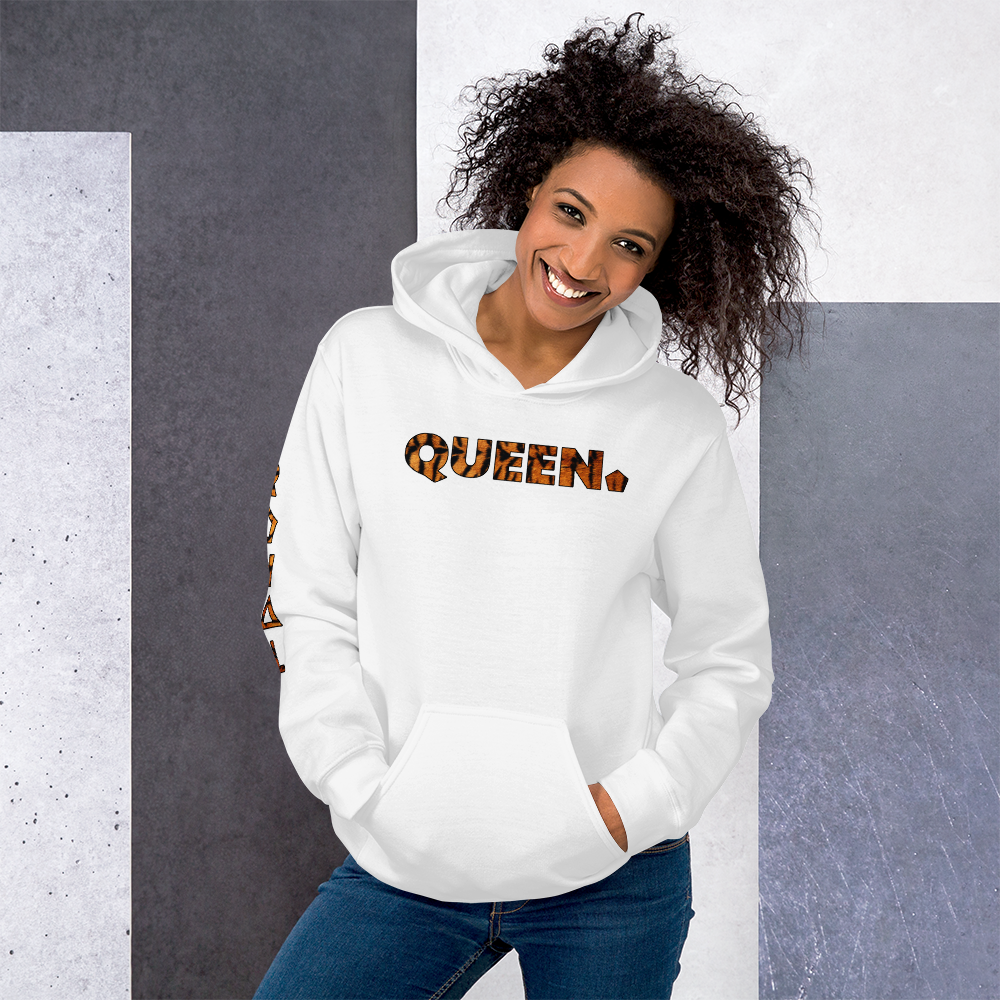 ROYAL. WEAR | HUMAN-IMAL QUEEN STATEMENT HOODIE ZEN FIGHTER TIGER VARIETIES