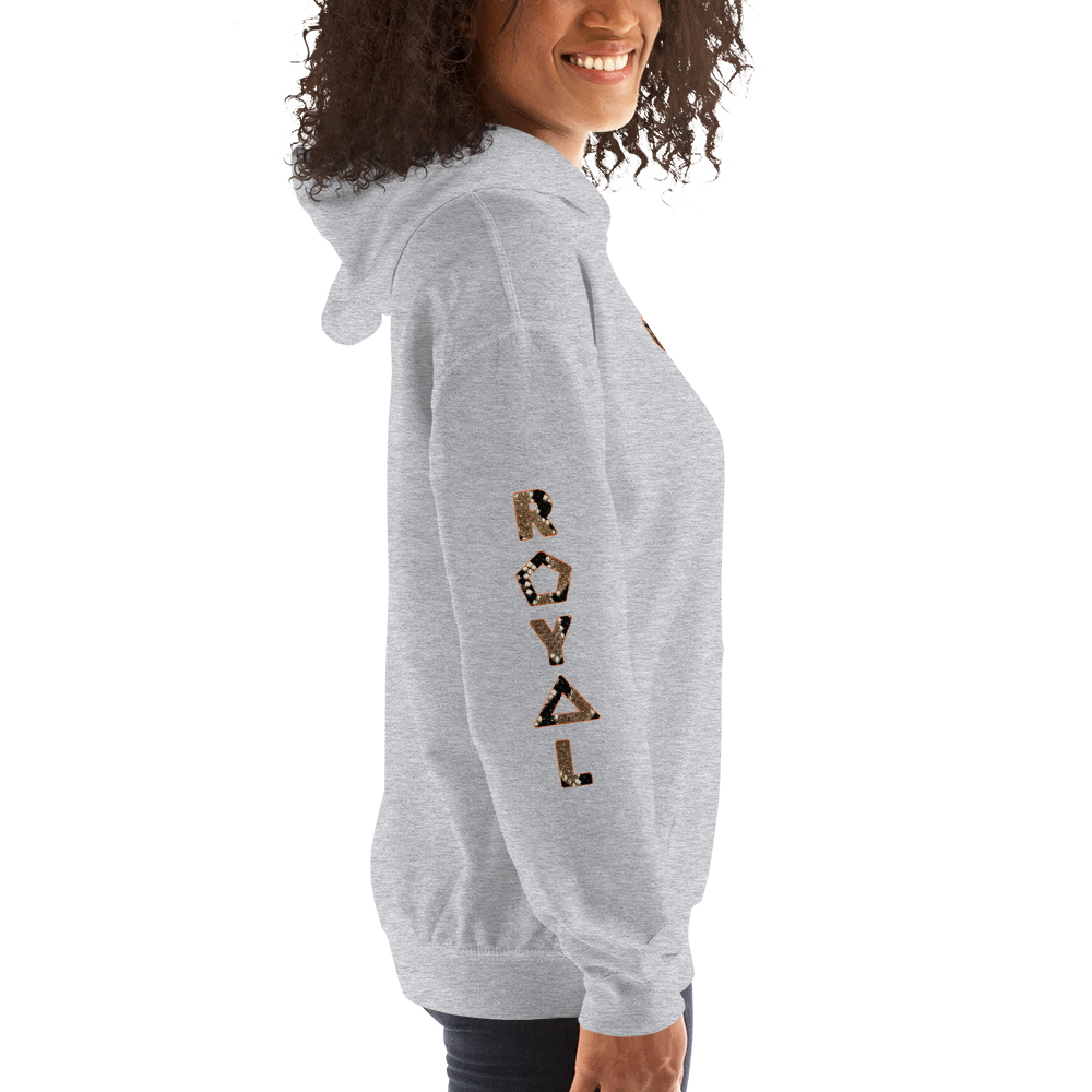 ROYAL. WEAR | HUMAN-IMAL QUEEN STATEMENT HOODIE WINDING COBRA VARIETIES