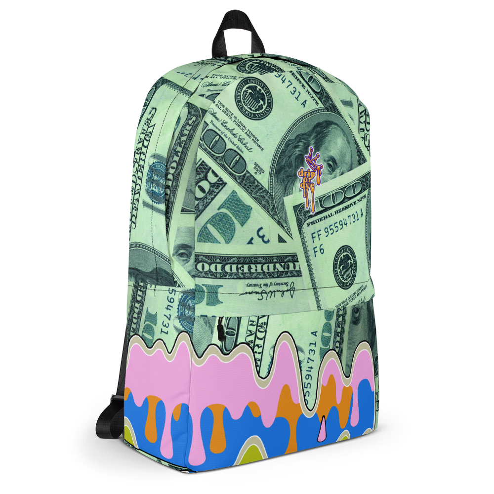 DRIP OR DYE | Money Drip Cash Bag of Money Manifest Backpack Pink N Green