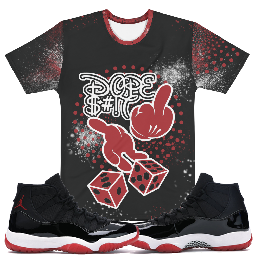 CRXWN | Dirty Money Dope Ish Dice Lyfe Crew Neck Jersey Tee