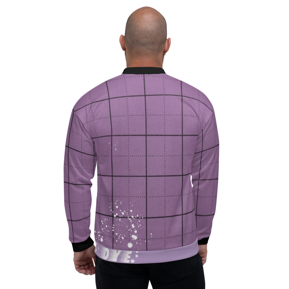 CRXWN | Drip or Dye | Plaid Season 1 Unisex Bomber Jacket Violet Purple