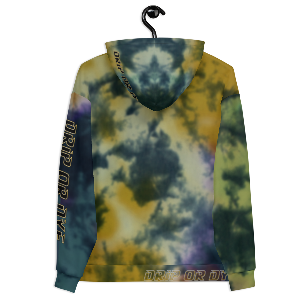 CRXWN | Drip or Dye | Tie Dye Season of Love 1 Cosmic Prophet Custom Unisex Hoodie and the Heavens Parted Color Cloud Golden Rays of Alchemy