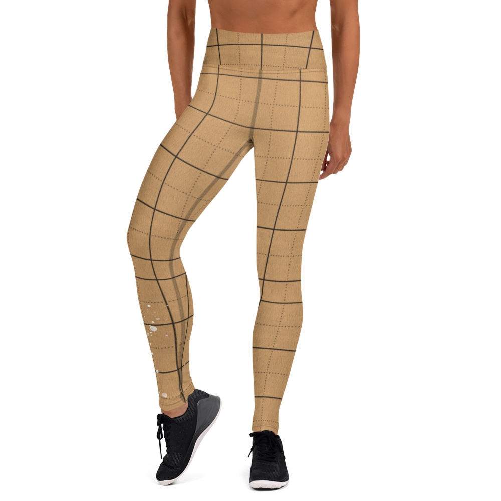 CRXWN | Drip or Dye | Plaid Season 1 Yoga Leggings Tan Sand