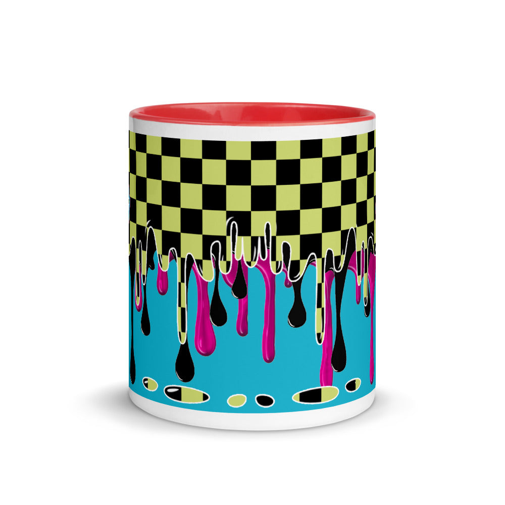 CRXWN | Drip or Dye | Checker Season 1 Color Series COFFEE MUG Grape Jelly In Taxi Cab Checker Drip Red