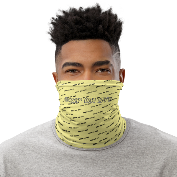 CRXWN | Drip or Dye | HUES Season 1 Back 2 Basics Custom Racer Stripes 3-in-1 UNISEX Face Mask Zoom Limoncello Yellow
