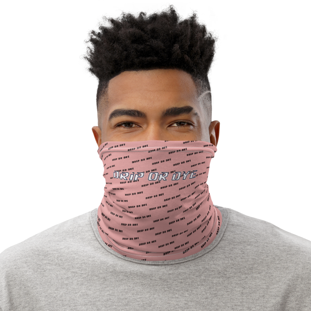 CRXWN | Drip or Dye | HUES Season 1 Back 2 Basics Custom Racer Stripes 3-in-1 UNISEX Face Mask Zoom Pink Bunny