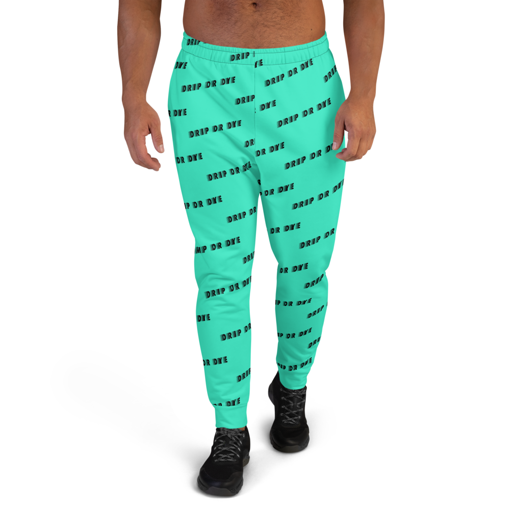 CRXWN | Drip or Dye | Racer Season 1 Unisex Jogger Racing Stripes Sweatpant Zoom Seafoam Aether