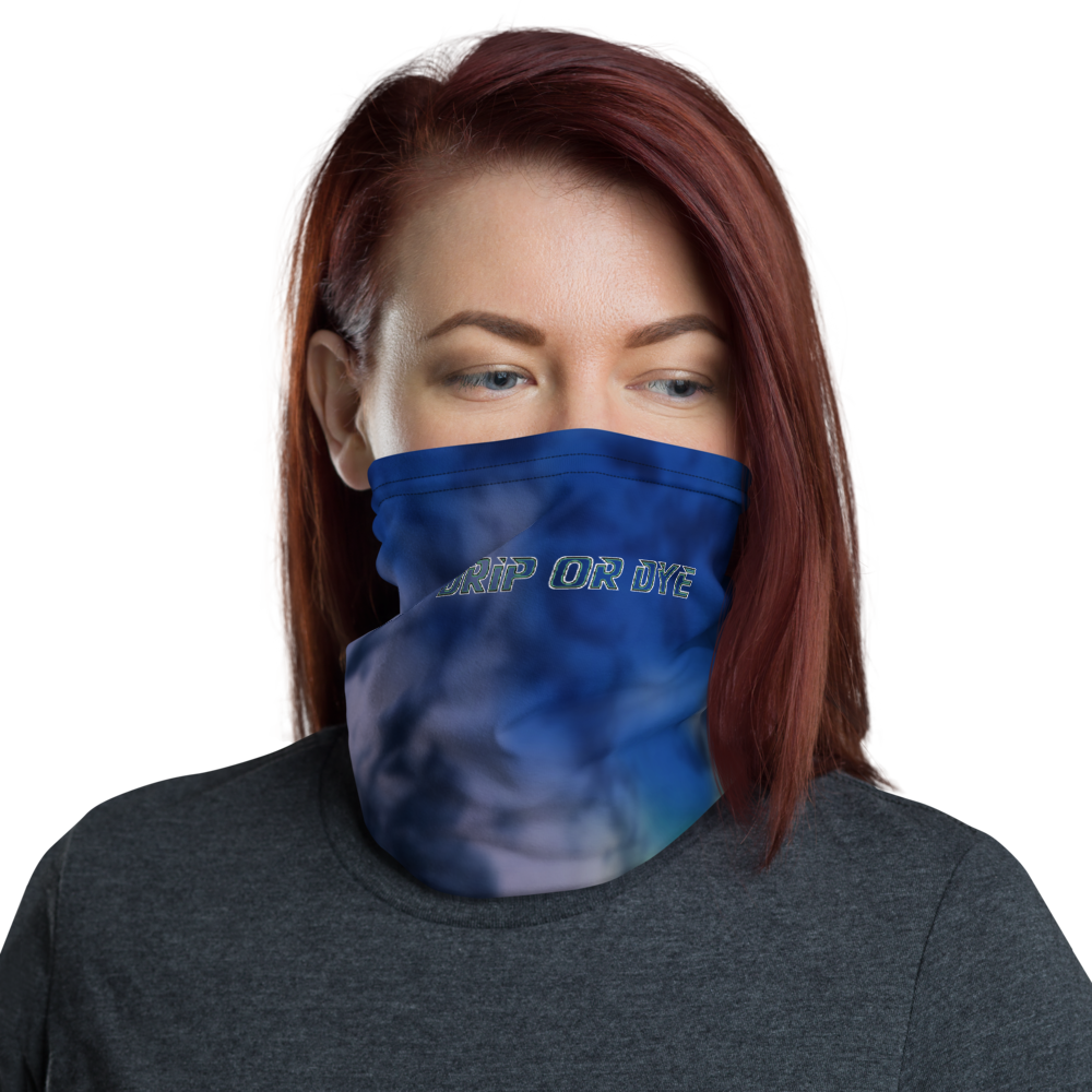 CRXWN | Drip or Dye | Tye Dye Season of Love 1 Cosmic Prophet Custom 3-in-1 UNISEX Face Mask Heavenly Color Clouds Hyper Royal Blue Ocean