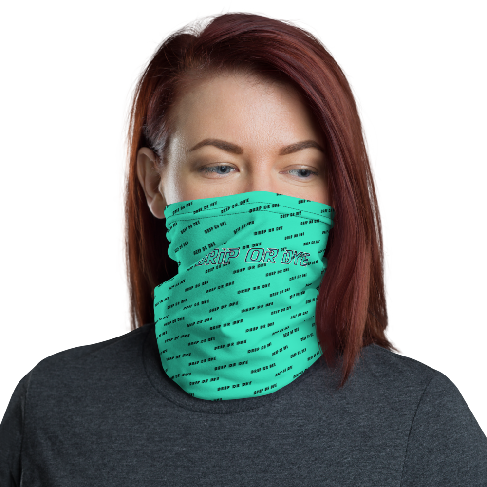 CRXWN | Drip or Dye | HUES Season 1 Back 2 Basics Custom Racer Stripes 3-in-1 UNISEX Face Mask Zoom Seafoam Aether