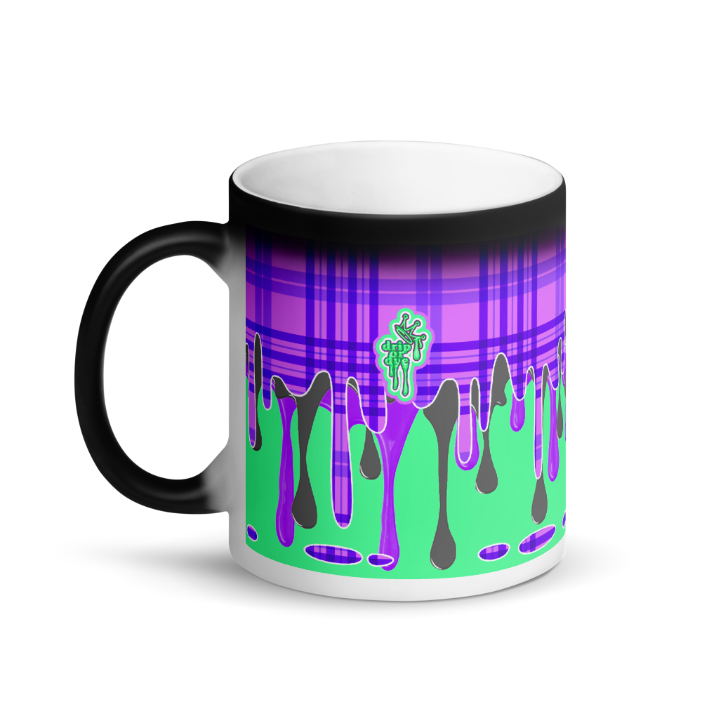 CRXWN | Drip or Dye | Plaid Season 1 Magik Mug COFFEE MUG Mint Grapes