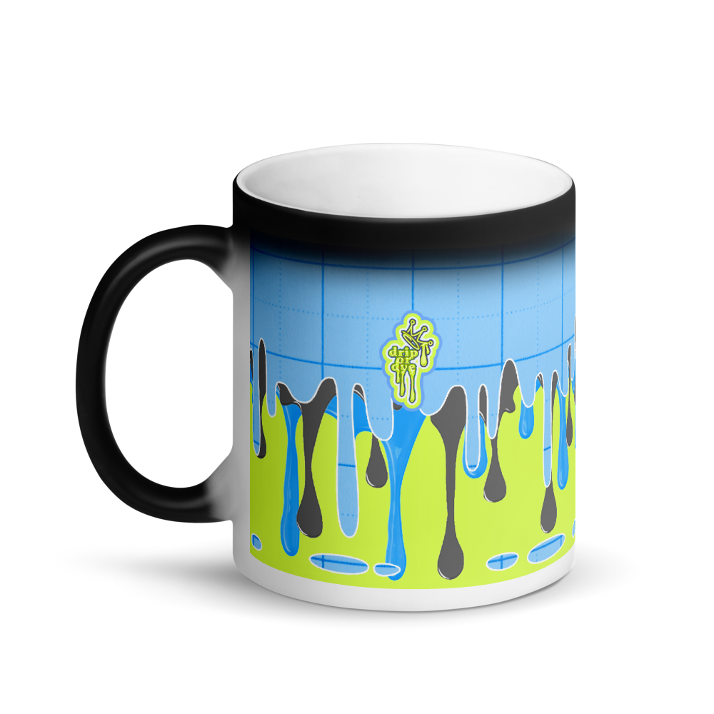 CRXWN | Drip or Dye | Plaid Season 1 Matte Black Magik Mug COFFEE MUG Blue Lemonade