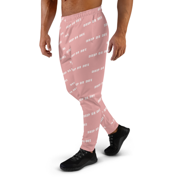 CRXWN | Drip or Dye | Racer Season 1 Unisex Jogger Racing Stripes Sweatpant Zoom Matte Pink Bunny