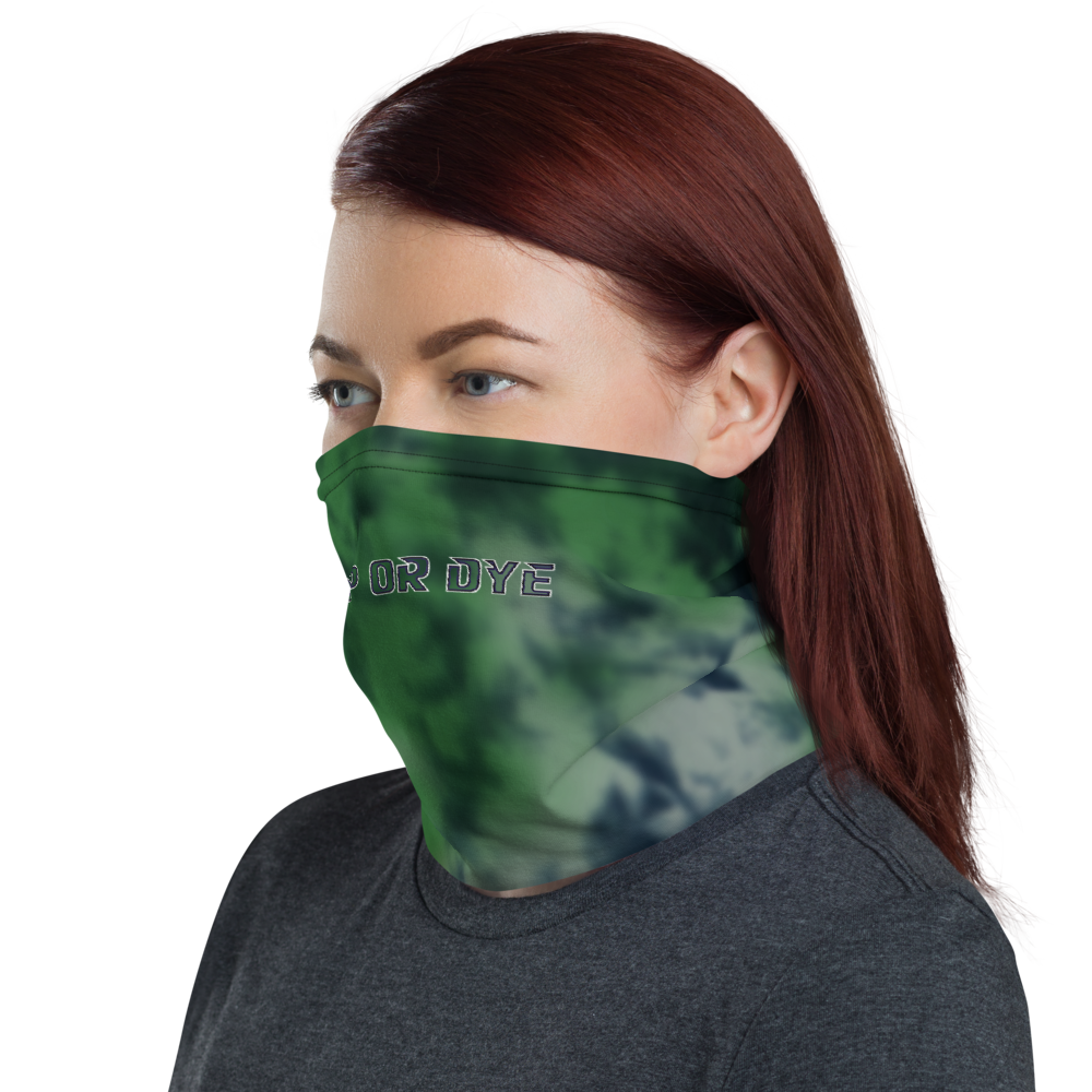 CRXWN | Drip or Dye | Tye Dye Season of Love 1 Cosmic Prophet Custom 3-in-1 UNISEX Face Mask Heavenly Color Clouds Leaves in Green Trees