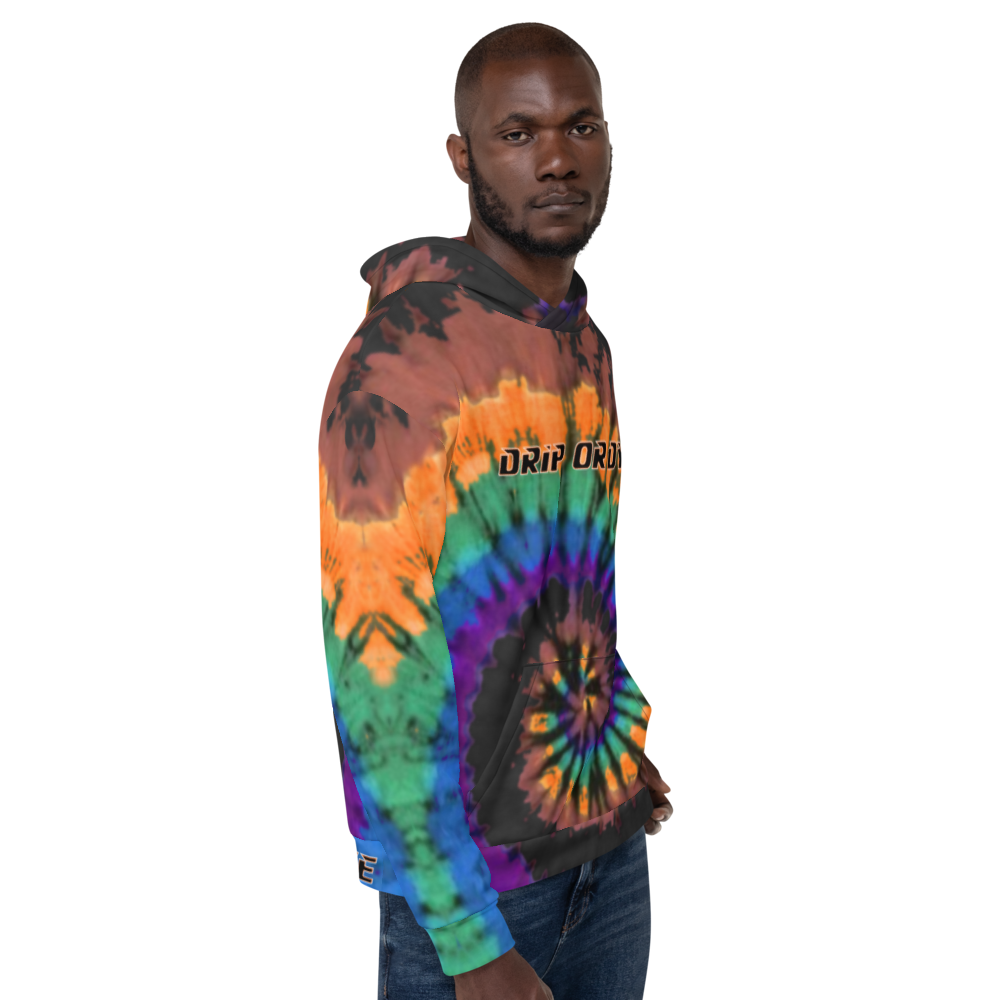 CRXWN | Drip or Dye | Tye Dye Season of Love 1 Cosmic Prophet Custom Unisex Hoodie Spiral Source Code